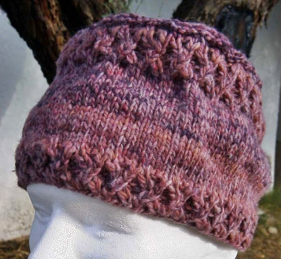 Cabled Flat-Top Cap Knitting Pattern (PDF download) 52c3ce445bd