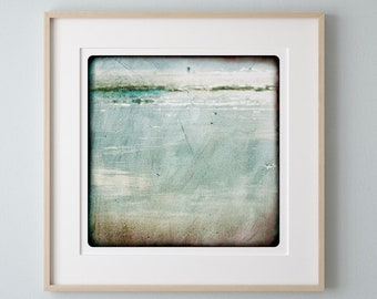 Light Blue abstract photography Seascape Rolling wave art print  Minimal Wall  Decor  Watercolor Painting Sea  Water VAGUE NORMANDE 1