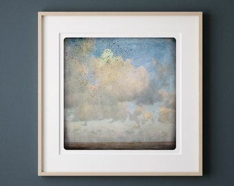 Cloudy sky on a beach Bright Seascape photography  Fine Art Print CIEL 2