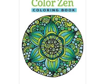 Design Originals Color Zen Adult Coloring Book - 5.25 x 8.25 in - 28 Designs
