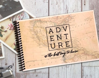 Adventure is the Best Way to Learn - Travel Journal - Couples Trip Album - Family RV Camping Logbook - National Parks Passport Stamp Book