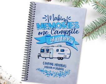 RV Travel Journal - Spiral Bound - Made in USA - Retirement Gift - Honeymoon Present - Fulltime RV - Record and Logbook for Camping Trips