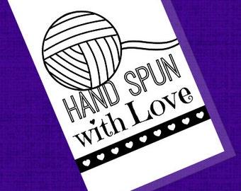 Printable PDF Labels - Hand Spun with Love Yarn Tags