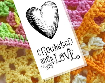 Printable PDF Tags or Labels - Crocheted with Love