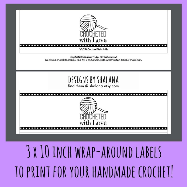 It's just a photo of Bewitching Printable Crochet Labels