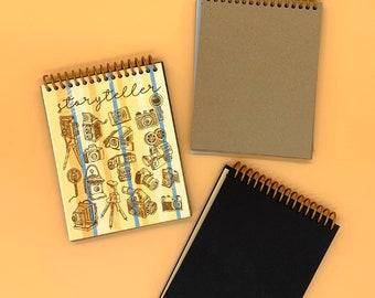 Mini Photo Album - Storyteller - Handmade Travel Notebook - Road Trip Photography Journal - RV Camping Scrapbook - Amateur Photographer Gift