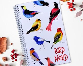 Bird Nerd Journal - Bird Watchers - Spiral Bound - Made in USA - Bird Sighting and Species Record - Life List and Log for Birding Adventures