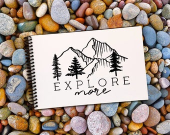 Hiking and Travel Journal - National Park Logbook - USA Road Trip Album - Includes Location, Elevation, Distance, Weather, Terrain, and More