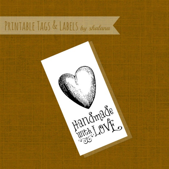 picture regarding Printable Hang Tag named Printable PDF Hold Tag or Sticker Label - Home made with Take pleasure in