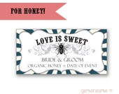 Personalized Honey Labels - Love is Sweet - Rectangle / DIGITAL FILE