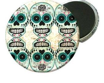 Magnet - Day of the Dead Blue Sugar Skull