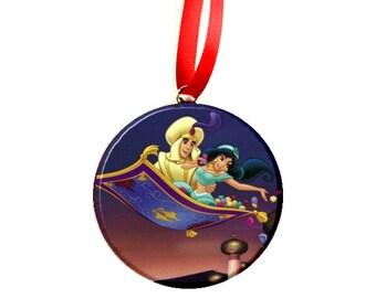 Disney Aladdin Jasmine Magic Carpet Christmas Tree Ornament