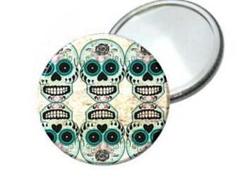 Mirror - Day of the Dead Blue Sugar Skull