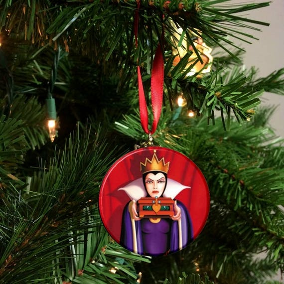 Evil Christmas.Snow White Evil Queen Christmas Tree Ornament