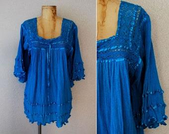 vintage 1970s GAUZE GODDESS tent blouse