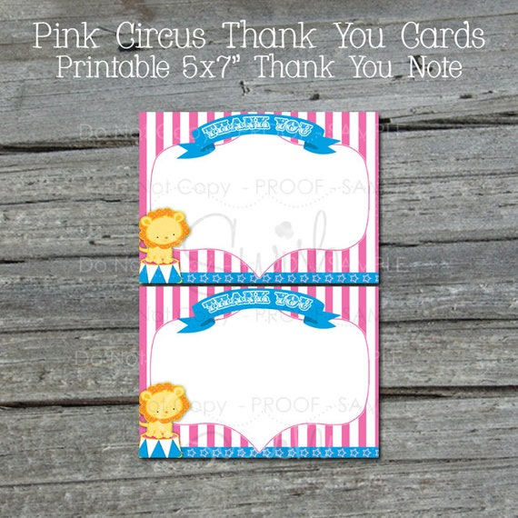 graphic relating to Printable Marshmallow Template identified as Circus Thank Oneself Card Purple Circus Thank On your own Observe
