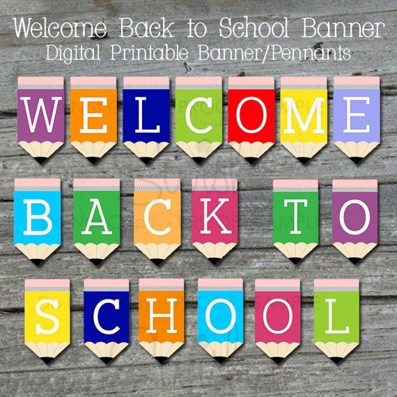 Inventive image regarding welcome back banner printable