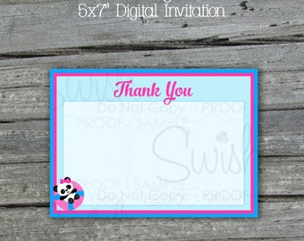 Panda Pool Party Thank you Cards | Printable Thank You Notes | Digital Download | Digital download | Instant Download