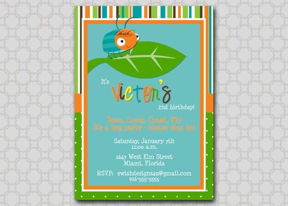 Printable Bug Birthday Party Invitation