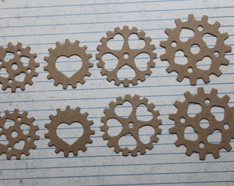 Embellishment COUNTRY STARS Bare Raw Chipboard Die Cuts 5