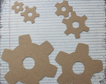Gears Bare chipboard die cuts [small, medium, extra large]