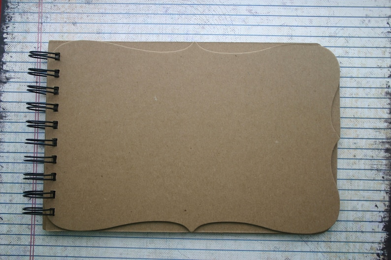 choose wire or book rings Mix /& Match Different Page Edge Chipboard Album 6 pages 5 1//2 x 8 1//2