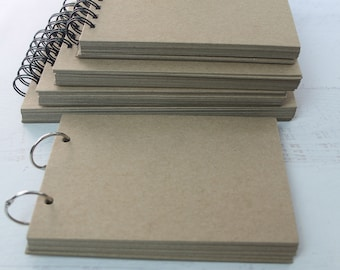 """Chipboard Album-Mini Scrapbook-Blank Rectangle Scrapbook-Chipboard Journal 10 pages-7 sizes to choose from 5"""" to 8"""" wide"""
