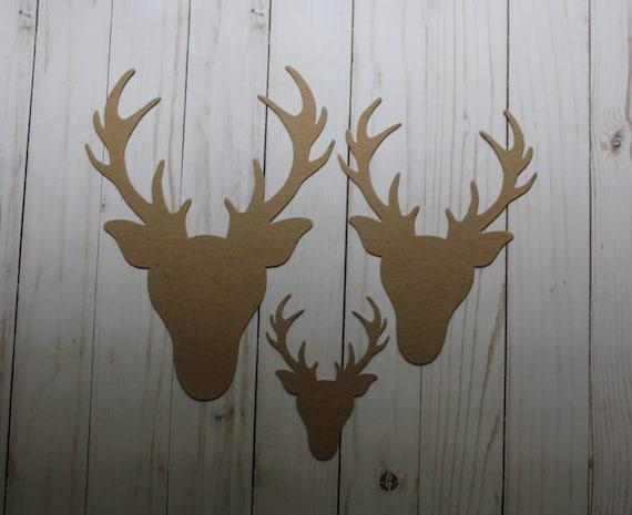 DEER HEAD // REINDEER Bare Christmas Embellishments Chipboard Die Cuts 4
