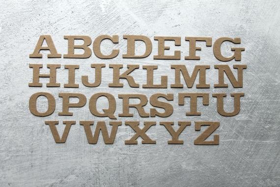 3 Typewriter Lowercase or Uppercase chipboard alphabet die cuts