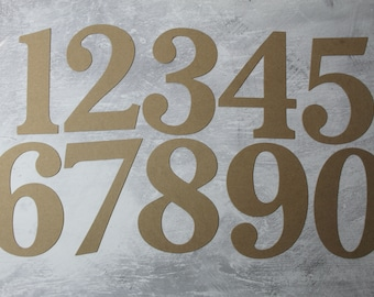 """6"""" NUMBERS bare chipboard die cuts 