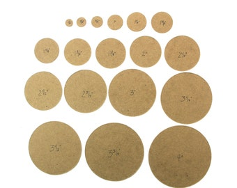 """50 cardboard circle die cuts 