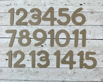 """2"""" Bare Chipboard Numbers 