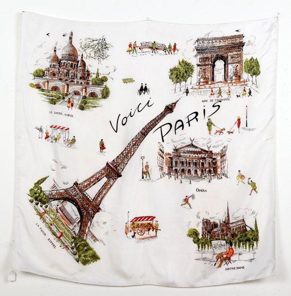 Voici Paris Souvenir Silk Scarf