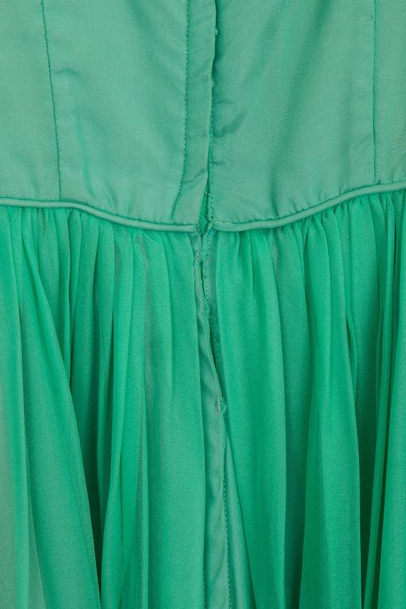 Vintage Green Chiffon 1950's Party Dress - image 3