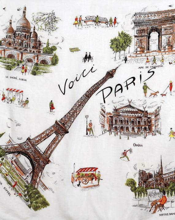 Voici Paris Souvenir Silk Scarf - image 2