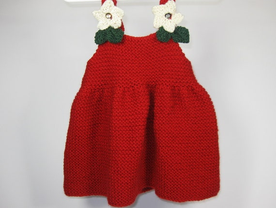 Knitting Patterns For Girls Dresses Childrens Knitting Etsy
