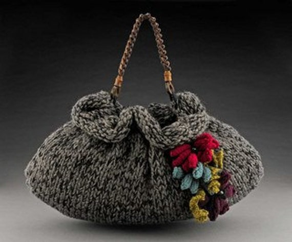 Knitting Patterns For Pursese Slouchiehandbag Knitting Patterns Purse Knitting Patternsee Shipping Via Pdf