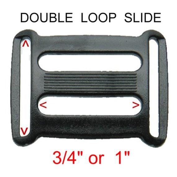 20 Pieces 3//4 Inch Silver Metal Slides Tri-Glides Buckles Strap Webbing Slider Buckles