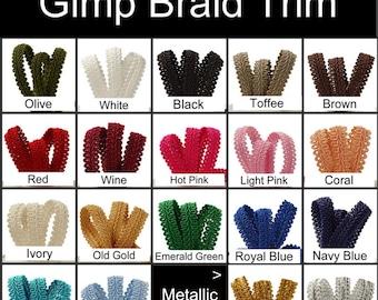 10 Yard Reel - Gimp Braid Trim, Your Choice of Color