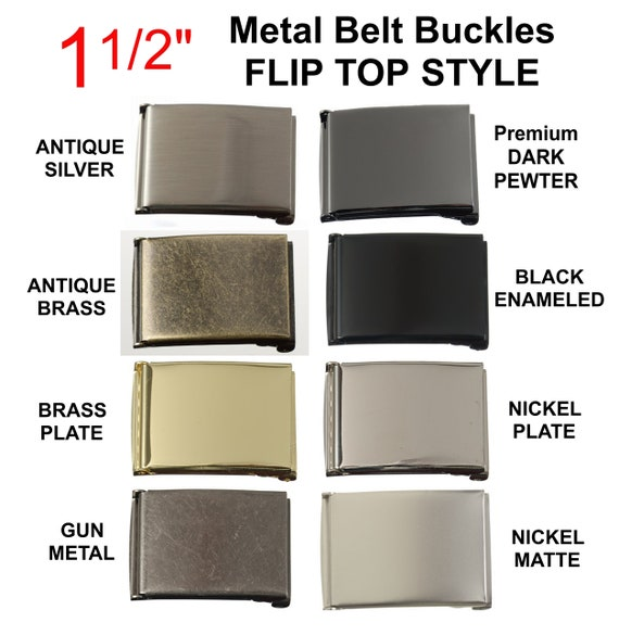 """NICKEL Plated BRASS Full Rectangle Belt Buckle Leather craft 38 mm Strong 1.5/"""""""