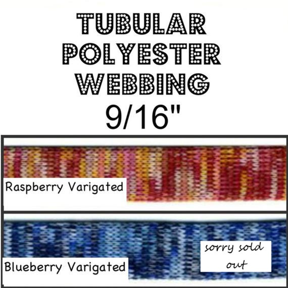 10 Yards 9 16 Flat TUBULAR POLYESTER Soft Webbing