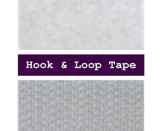 4 YARDS - Hook and Loop, Sew On, WHITE, 5/8 inch, 16mm