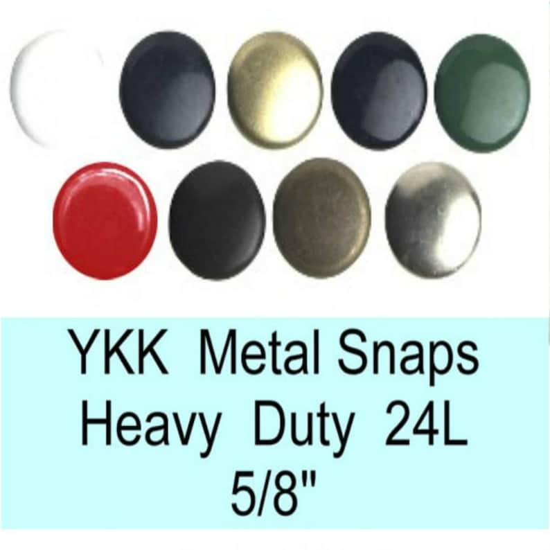 12 SETS - Heavy Duty Snap Fasteners 24L - 5/8