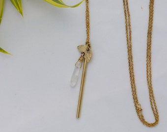 Crystal Mace Necklace