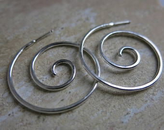 Espiral Hoop Earrings