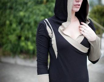 Nomadic Ballerina Hooded pullover Organic clothing, hemp clothing, custom fit