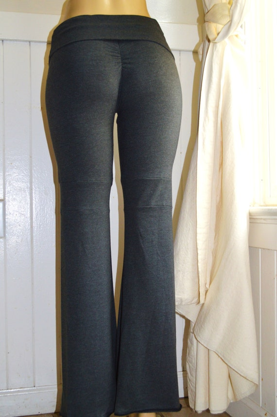 Yoga Pants,Fold Over Waist,Womens Pants,Sexy Pants,Sexy Yoga Pants,Leggings,Organic Clothing by Etsy