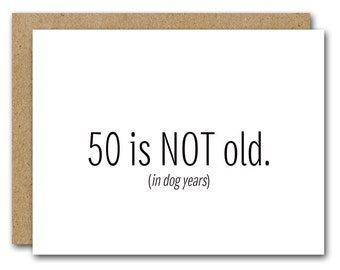 50th Birthday Card INSTANT DOWNLOAD Funny Happy Friend Fiftieth