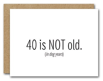 Printable 40th Birthday Card INSTANT DOWNLOAD Funny Happy Friend Fortieth