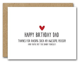 father birthday card etsy